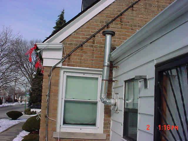 Improperly Installed Water Heater Chimney Natural Draft