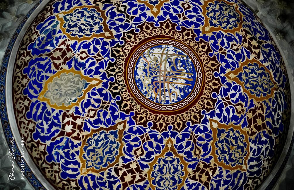 Ottoman Art Part Of The Dome Ceiling In Blue Mosque I