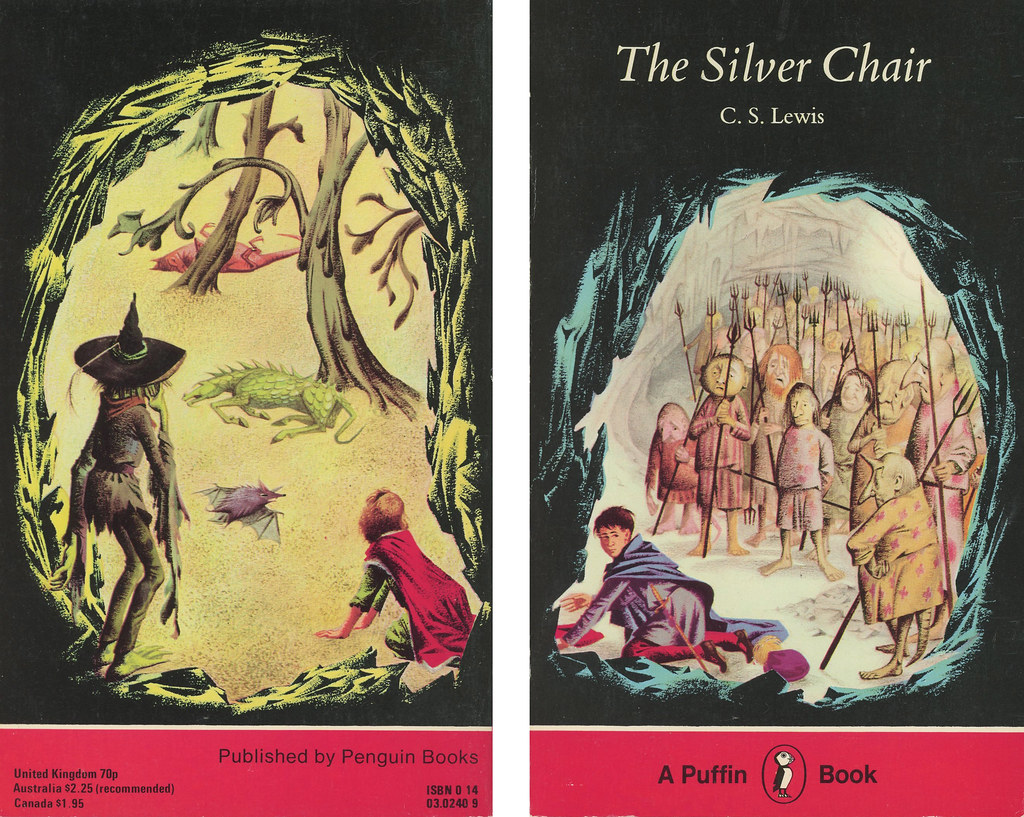 The silver chair illustrations -  Puffin Books 240 C S Lewis The Silver Chair With Back By