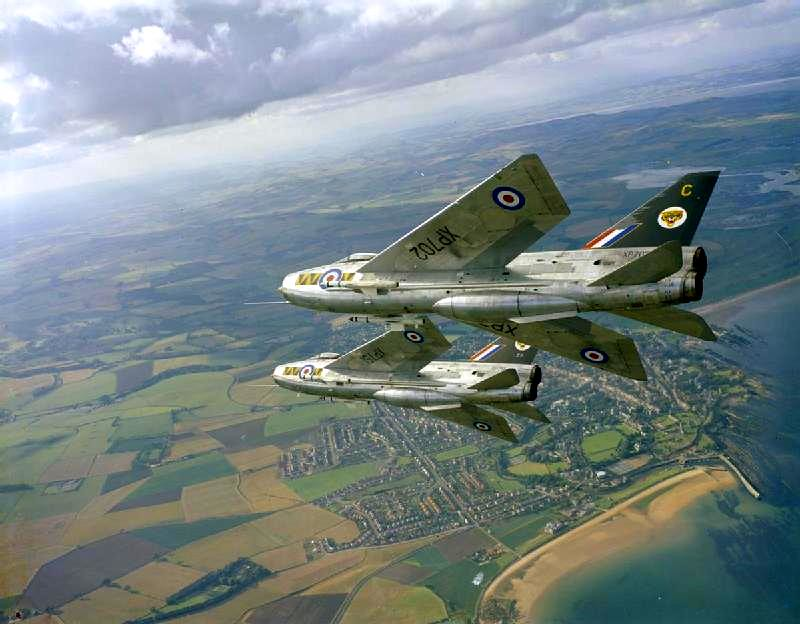two english electric lightning f 3s of no 74 squadron base flickr