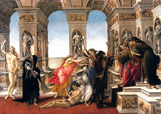 Sandro Botticelli - Calumny of Apelles, 1495 at Uffizi Galleria Florence Italy | by mbell1975