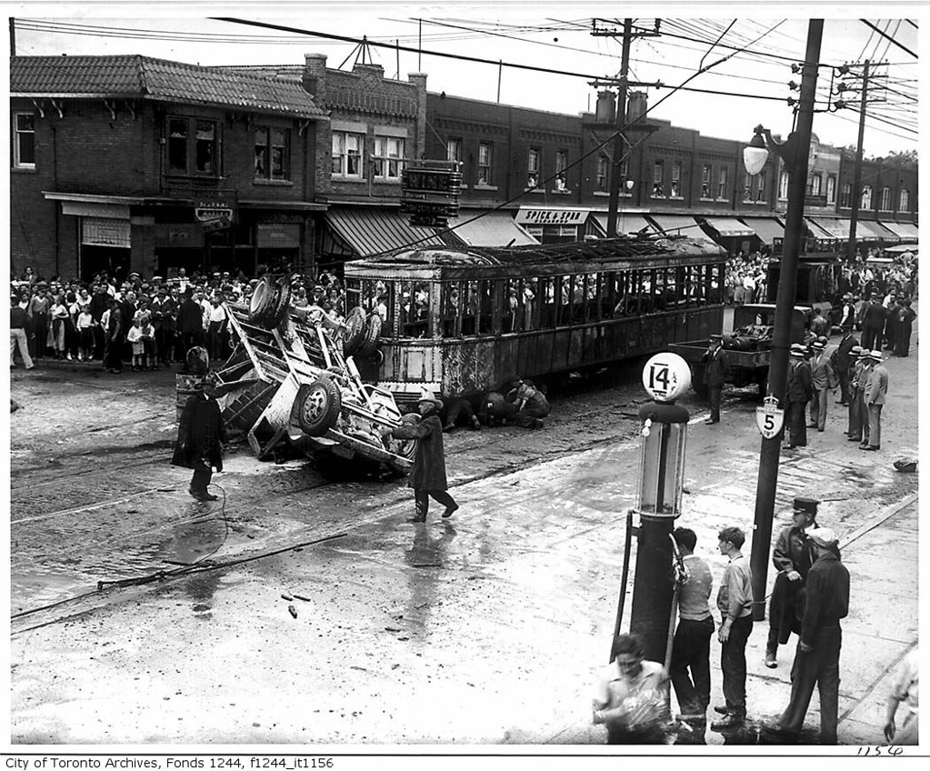 Truck And Streetcar Accident Danforth Avenue