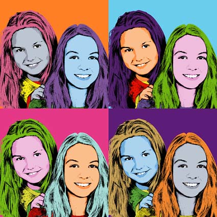 Pop art yourself like these teen sisters pop art portraits flickr pop art yourself like these teen sisters by personalart solutioingenieria Choice Image