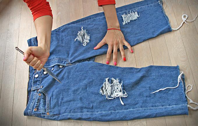Чем порвать джинсы красиво в домашних условиях