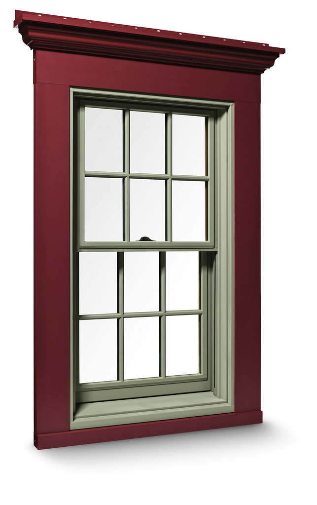 Exterior trim system 400 series double hung window with for New window company