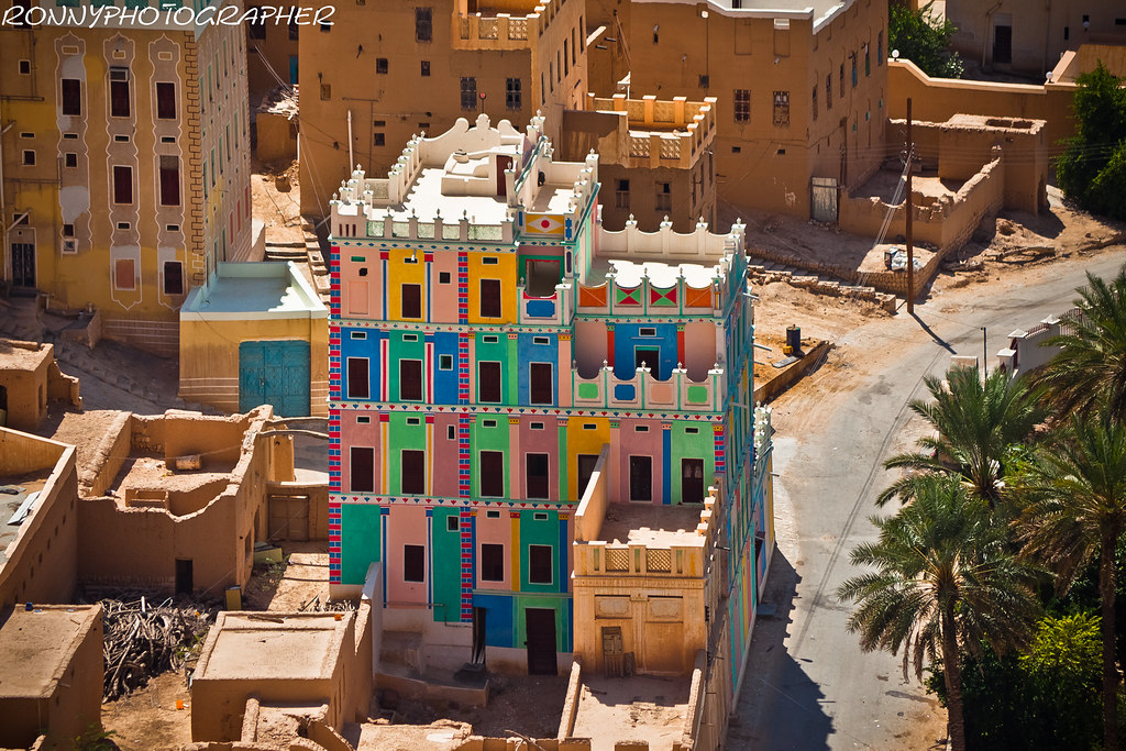 beautiful palace color in a village in wadi doanhadramawt
