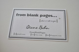 business card? | by Diane {from blank pages...}