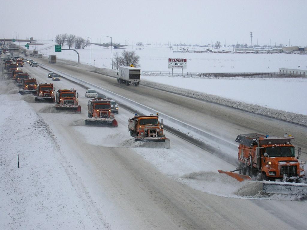 Snow Removal Tandem Gang Plow Cdot Crews Often Plow In