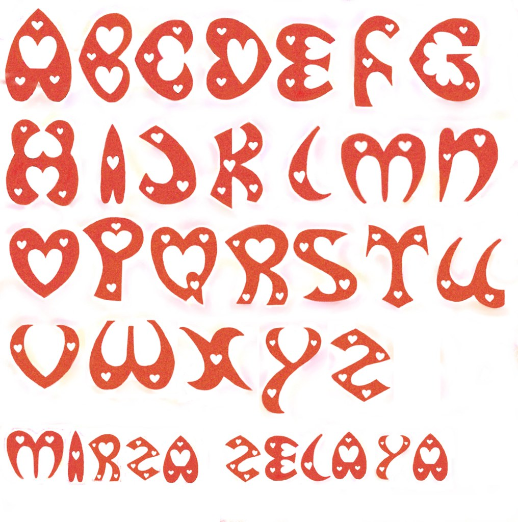 S Alphabet In Heart LETTERS HEART S...