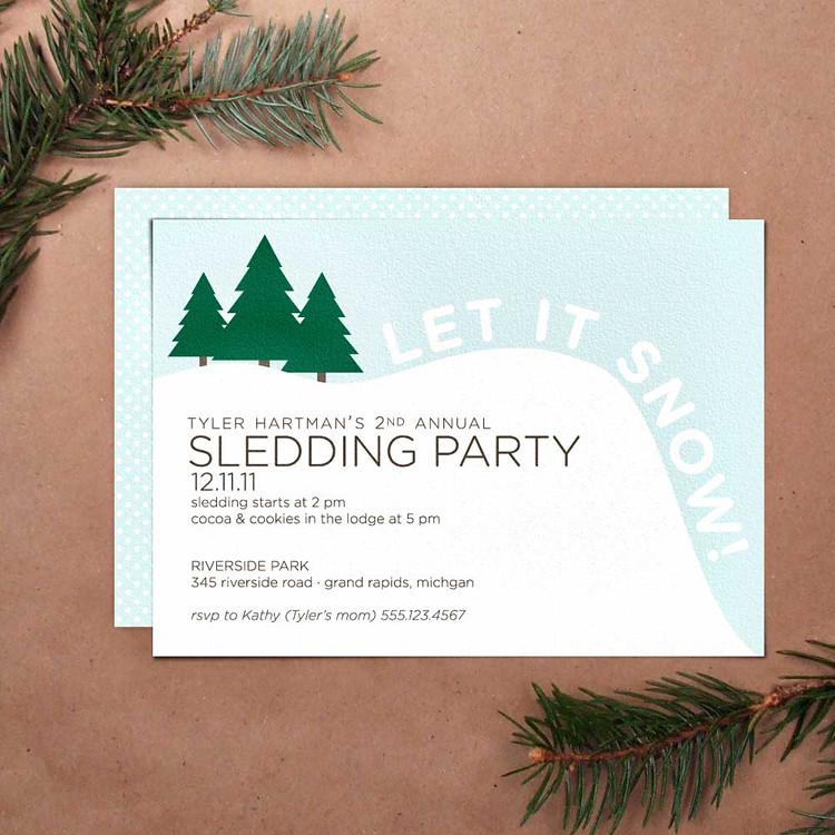 Sledding Party Invitation | Printable DIY holiday party invi… | Flickr