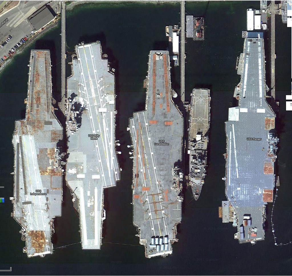 Us Carriers Of The Quot Ghost Fleet Quot At Bremerton Washington