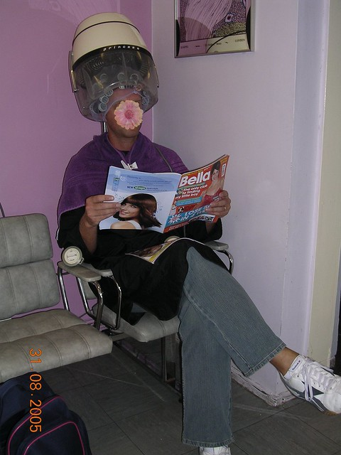 Under The Dryer In Big Rollers Flickr Photo Sharing