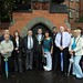 Belfast Lord Mayor with abuse survivors outside site of Nazareth House, t
