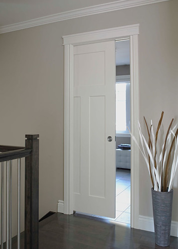 Craftsman iii smooth finish moulded interior door doors flickr - Finished white interior doors ...