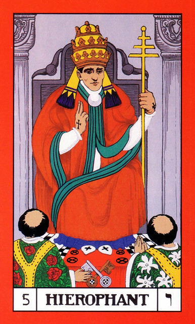 Bota Key 1 Magician: BOTA Major Arcana (coloured) 05 Hierophant