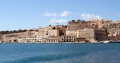 Valletta from Fort St. Angelo, Vittoriosa, Malta