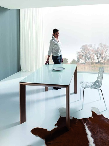 mesa auxiliar kiona mesa de cristal para sal n comedor