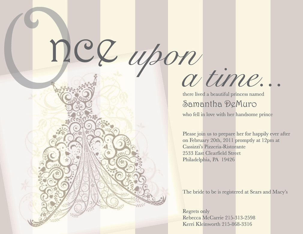 Once upon a time.. Fairy Tale vintage bridal shower invita ...