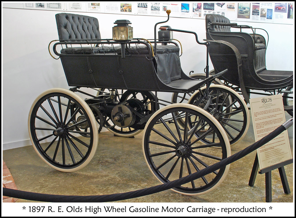 1897 Olds High Wheel Carriage Visit To The R E Olds
