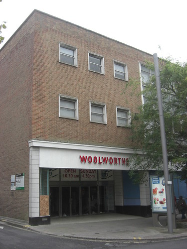 Plymouth Old Woolworths Shop Front Still Unoccupied