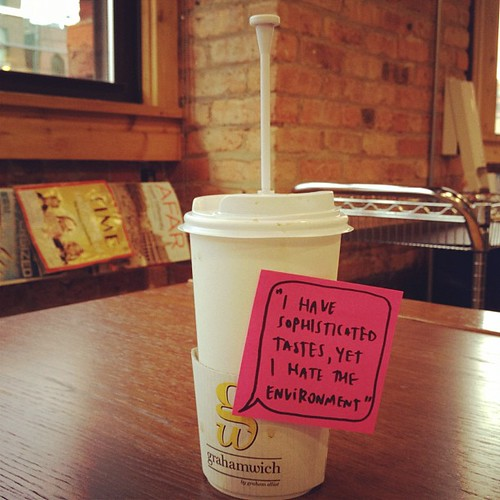 Disposable French press says... | by fueledbycoffee