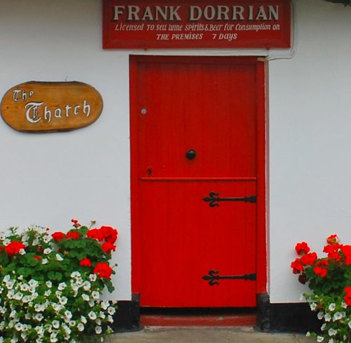 """The Thatch"" Red Door in Ireland 