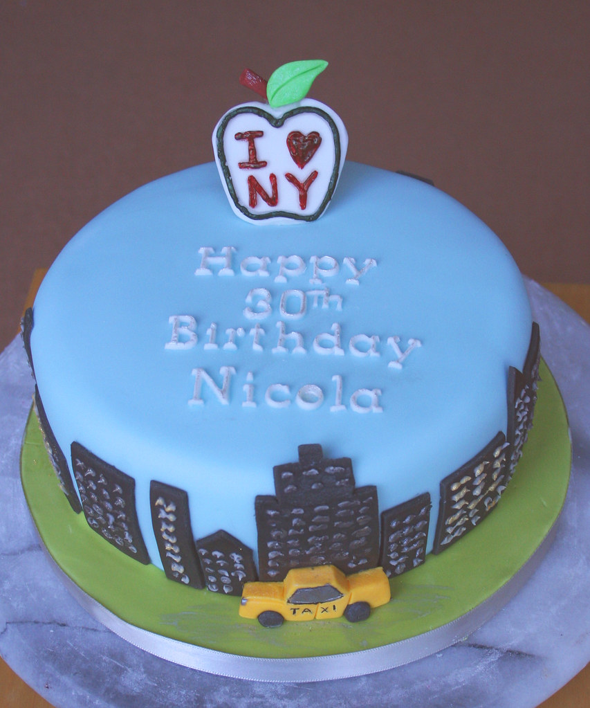New York Big Apple Birthday Cake Janet Whitehead Flickr