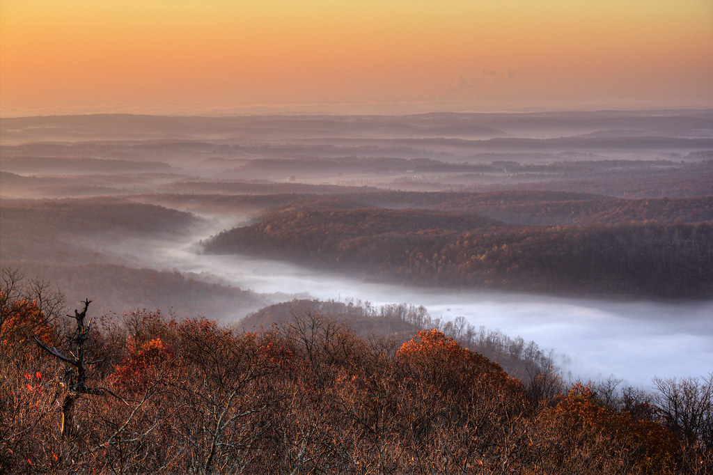Fog on Dug Hill Ridge, Black Mountain, Cumberland County, Tennessee