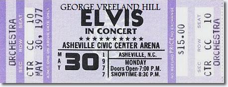 elvis presley concert ticket. | a ticket to see elvis