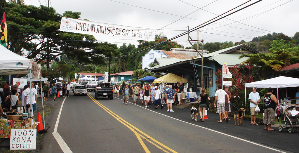 Coffee And Art Stroll Residents And Visitors Enjoy The