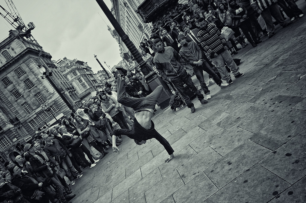 street dance | Group of 4 blokes doing some street performan ... Circus