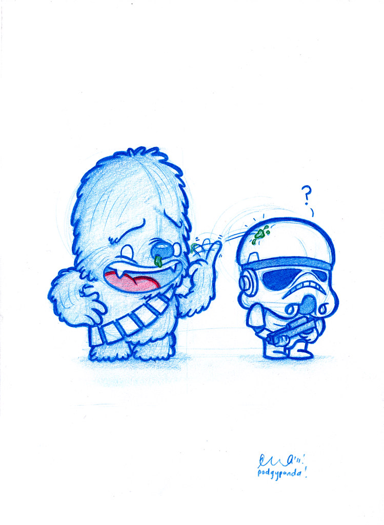 blue doodle 30 jerk chewbacca heres todays daily
