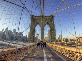 Winter Light on the Brooklyn Bridge | by ecstaticist - evanleeson.com