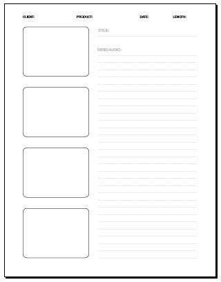 04 Frame Storyboard 8.5 X 11 In. | Storyboard Template: Pdf … | Flickr