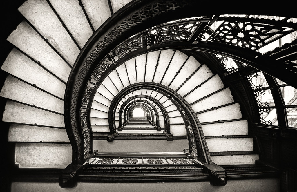 rookery stairs in black and white chris smith flickr