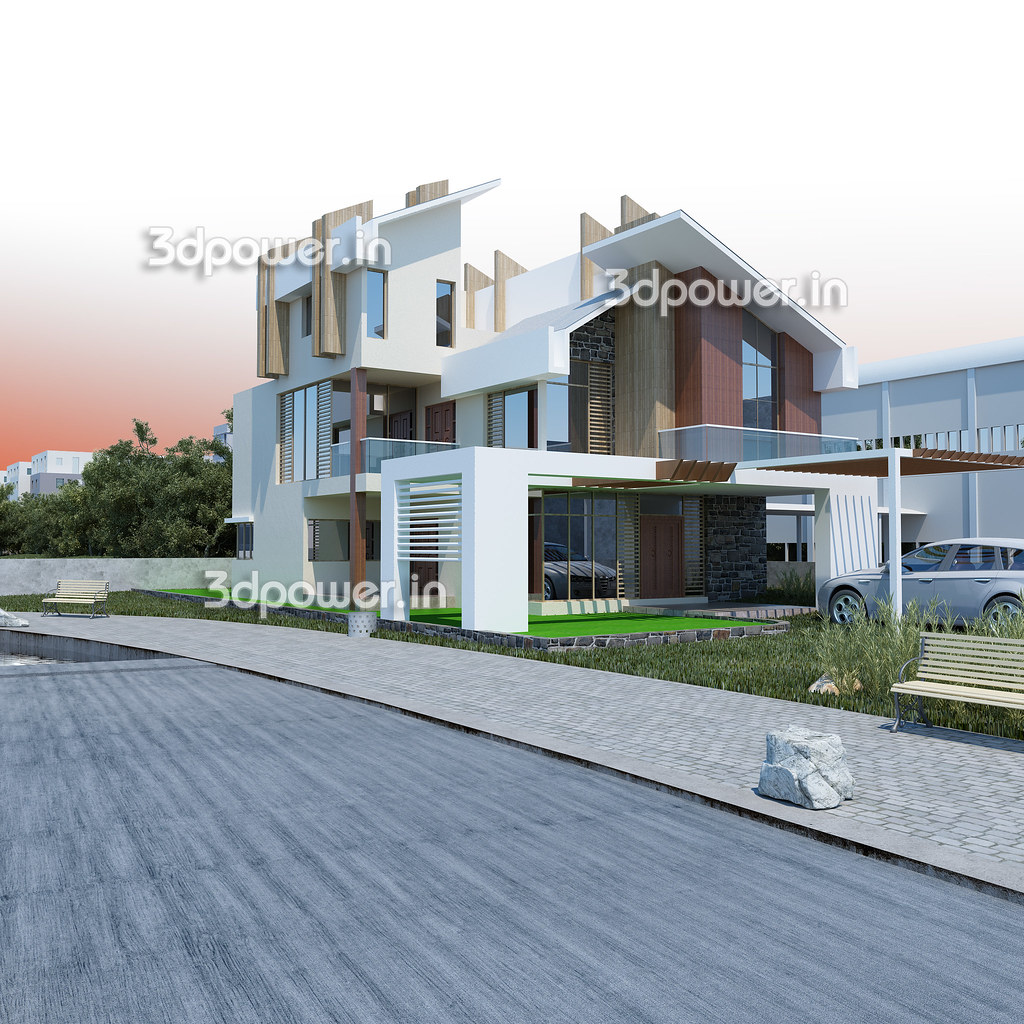 Bungalow architectural rendering establish in early 2001 for Architecture firms for internship in india