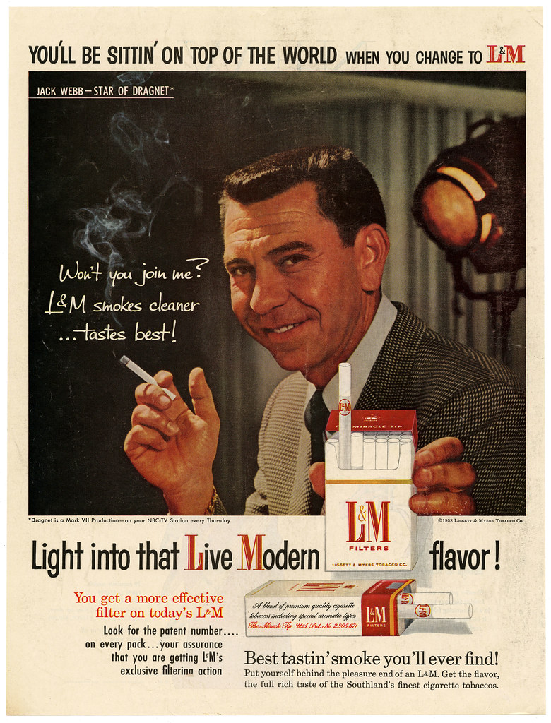 L and M featuring Jack Webb - 1958