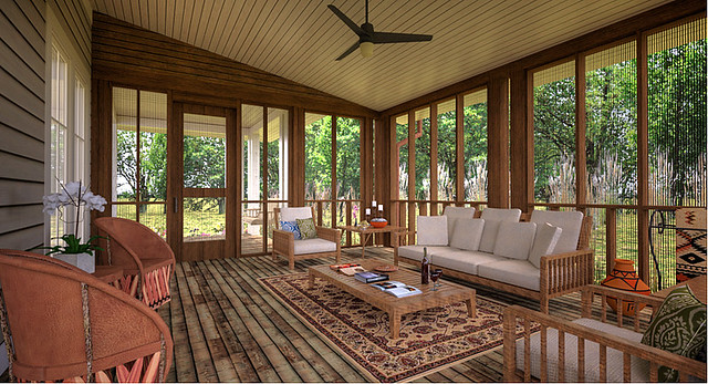 Interior Screened Porch : Bon aqua porch house screened design by building