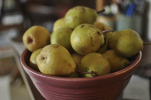 pears in my great-grandmother's bowl | by Marisa | Food in Jars