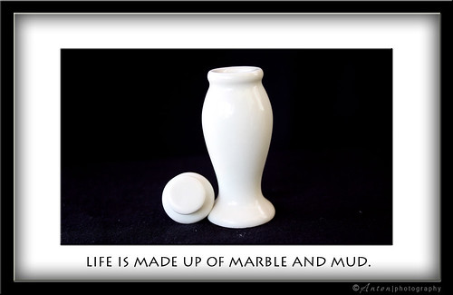 Life is made up of marble and mud ~Nathaniel Hawthorne~ | by Anton Cruz