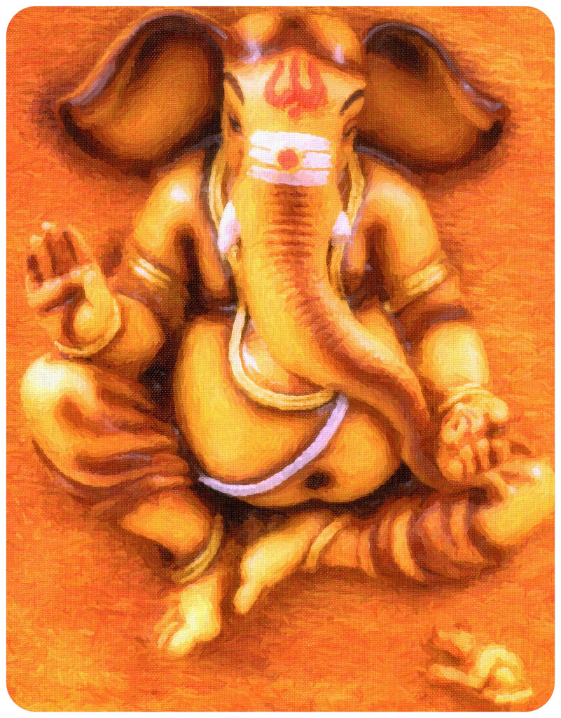 Lord Ganesha Oil Paintings Lord Ganesha Oil Painting