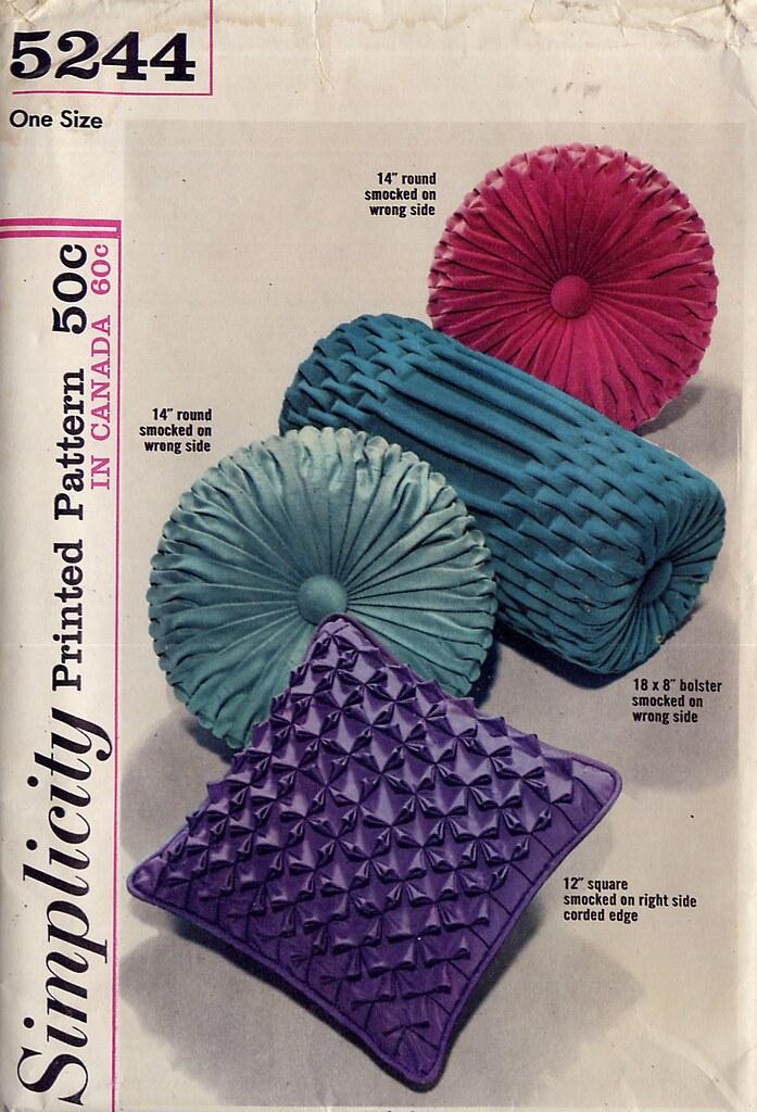 Vintage 60s Simplicity 5244 Smocked Pillow Pattern Flickr