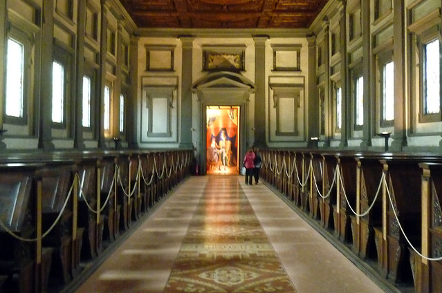 Michelangelo Laurentian Library Reading Room Rear