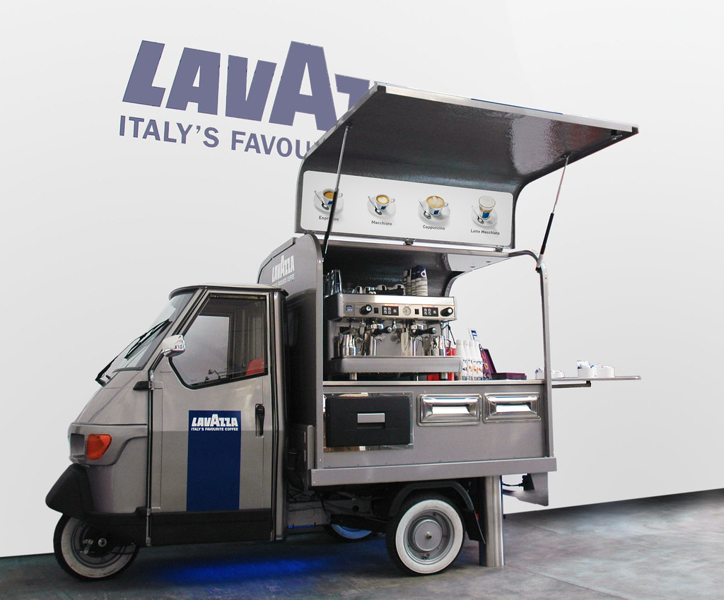 piaggio ape coffee lavazza flickr. Black Bedroom Furniture Sets. Home Design Ideas