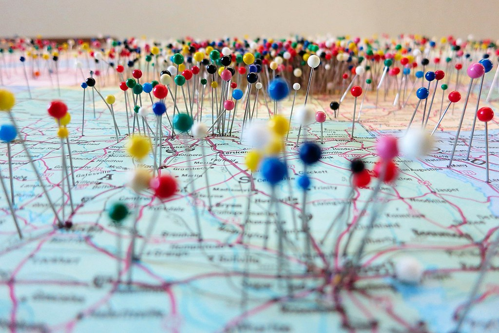 pinteresting the map of where the visitors to big brutus c flickr