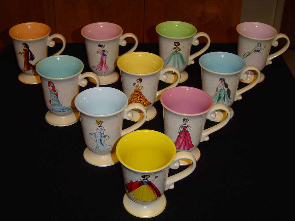 Disney Princess Designer Collection Mugs Front Side Flickr