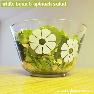 Whole Food Meal - White Bean & Spinach Salad | by Jessie {Creating Happy}