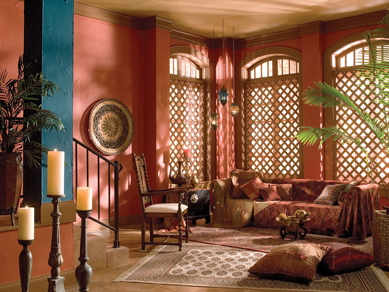 Turkish Living Room Main wall: Cajun Red UL120-20 Trim