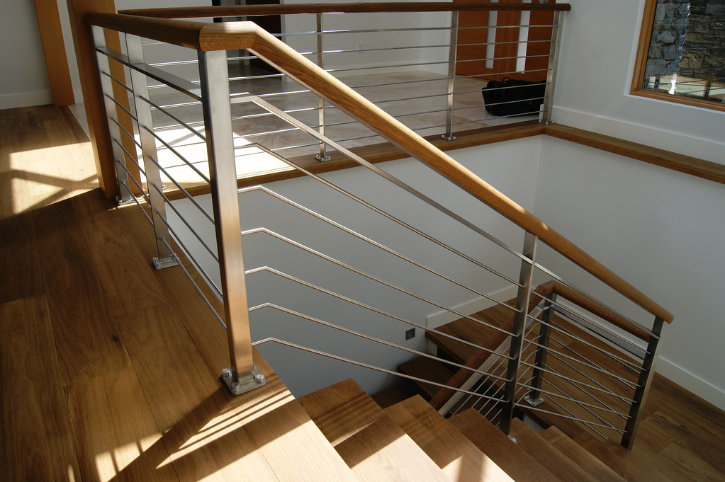 Interior stainless rod railing interior stainless steel - How to install interior stair railings ...