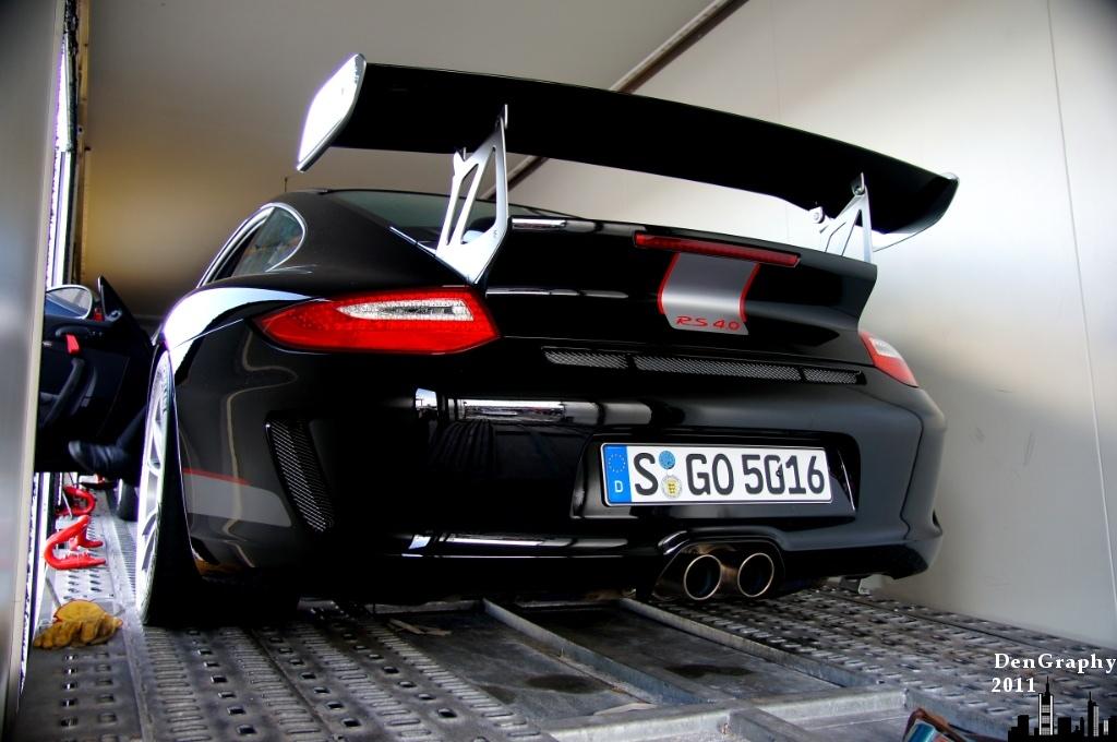 Porsche 911 GT3 RS4.0 im Hänger | Hockenheimring 2011 | Dennis W ...
